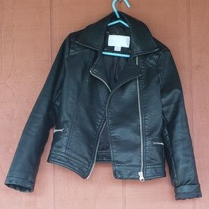 Girls leather jacket and boots